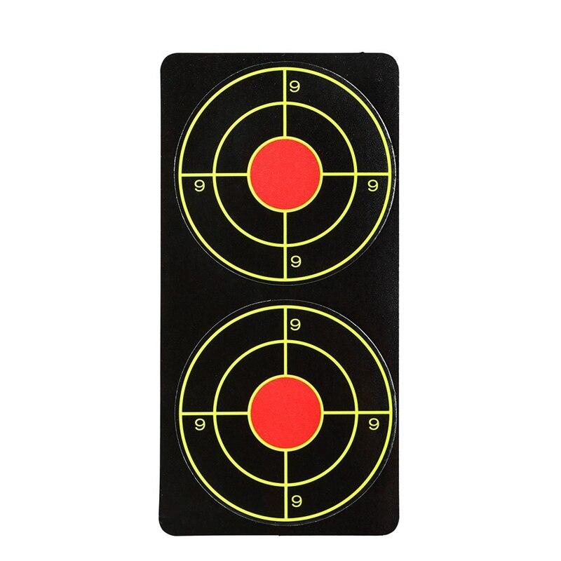 Self Adhesive Fluorescent Target Sticker Paper Targets Slingshot Shooting Practice Target Paper Sticker Shooting Training