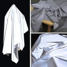 Lychee Life 50x140cm importado reflectivo brillante tejido para ropa de reflectante Fondo manualidades de costura hágalo usted mismo