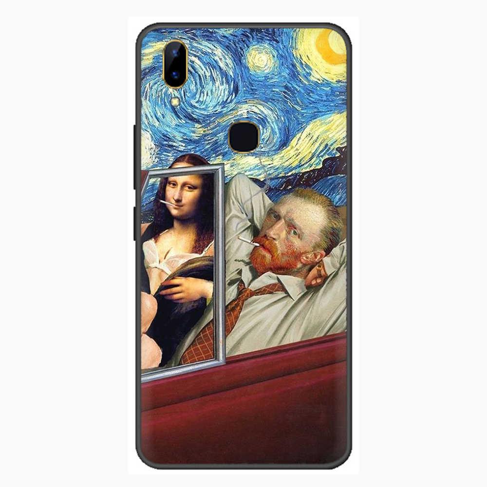 Van Gogh rozgwieżdżone niebo pop-art z nadrukiem telefonu etui na VIVO Y81 V5 V7 V9 V11 V15 Pro Y17 Y69 Y71 Y91 Y93 Y66 X9 Y11 U3 Y5S