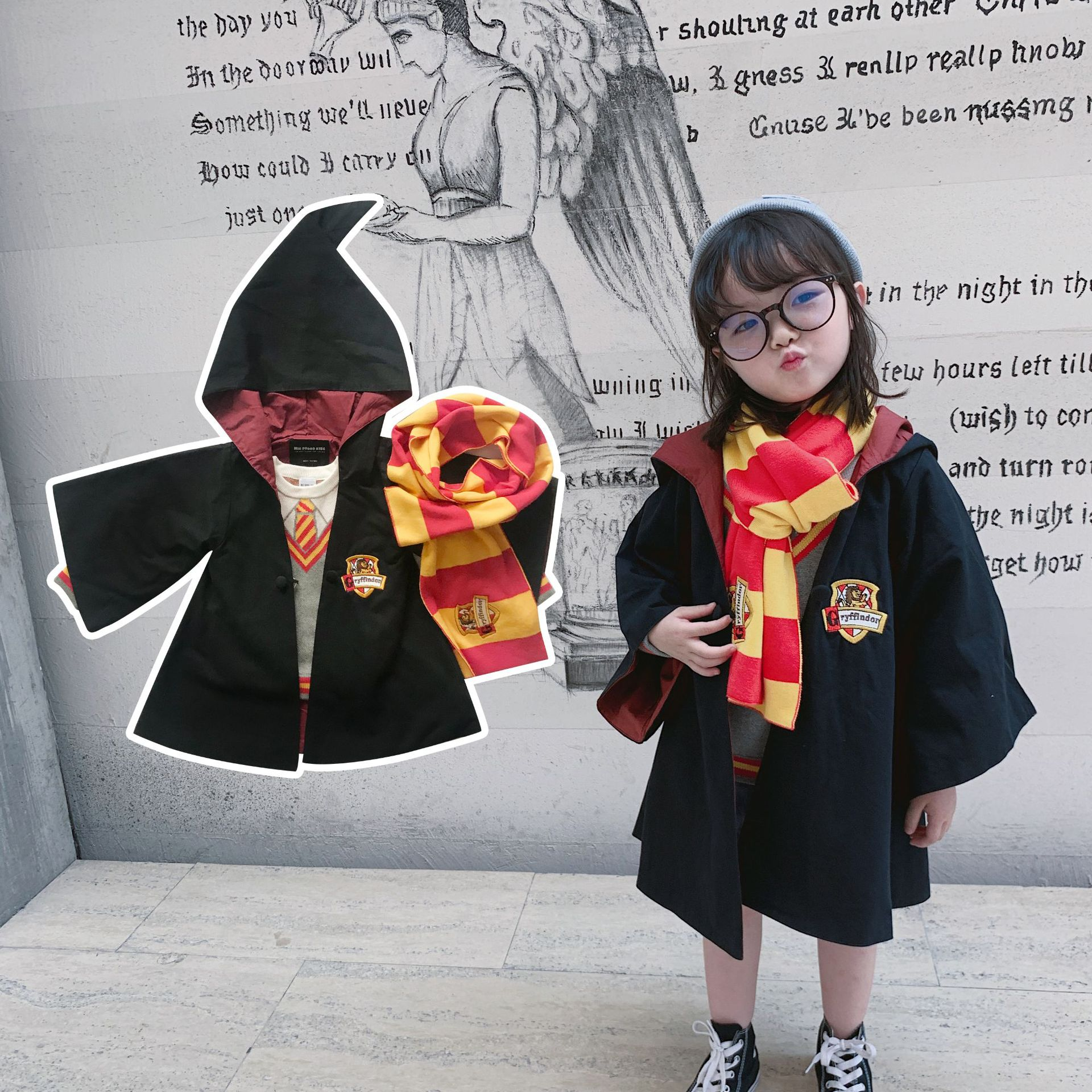 Tonytaobaby Autumn and Winter Dresses New Kids' Children's Wizard Christmas Outfit  Kids Clothes coat 2
