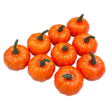 16 Pcs Halloween Artificial Pumpkin Simulation Fake Lifelike Props Garden DIY Craft Home Decoration dropshipping