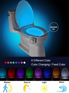 Luminaria-Lamp Toilet-Bowl Night-Light Led-Seat WC Smart-Motion-Sensor Waterproof PIR