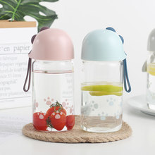 Water Cup Simple Transparent Glass Cup Male and Female Students Portable Water Cup Creative Literary Summer Cup 380ML transparent pc plastic cup with tea compartment simple and fresh male and female students portable water cup high temperature