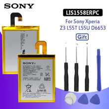 SONY Original Phone Battery For Sony Xperia Z3 L55T L55U D6653 D6633 D6603 LIS1558ERPC 3100mAh Replacement Batteries Free Tools все цены