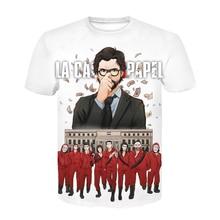 Camiseta De La Casa De Papel para niños, camisa De La Casa De Papel con estampado De robo De dinero, Maycaur, 3D, De manga corta, a La moda, novedad De verano
