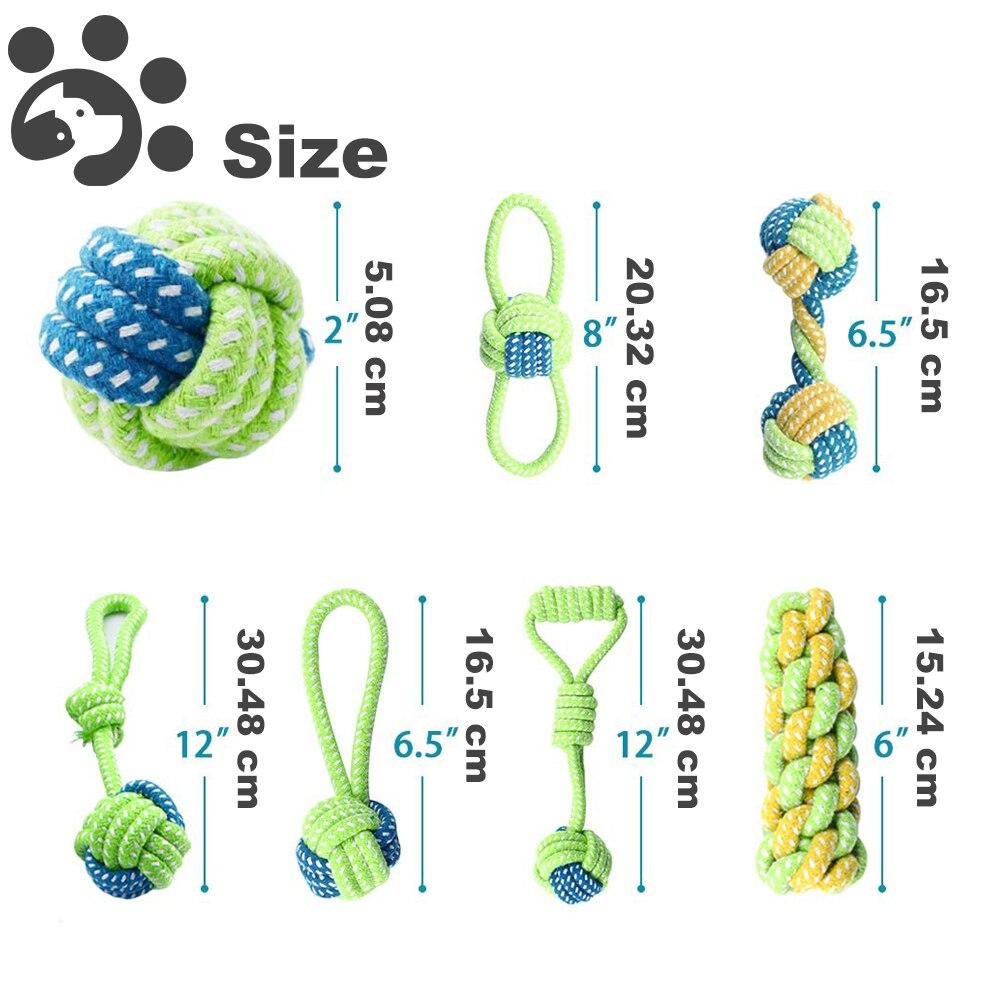 7 шт собака игрушки для больших собак мяч Зубная щётка интерактивные электронные игрушки Рождественский подарочный набор для жевательная игрушка для собак Игрушка аксессуары-3