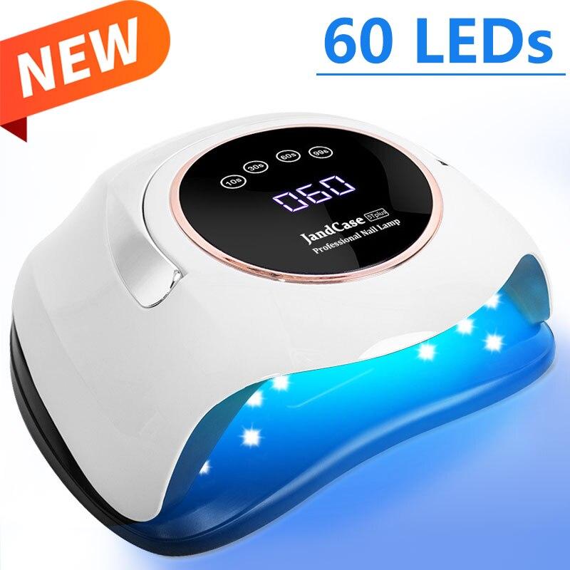 240W גבוהה כוח UV Led מנורת עבור נייל מייבש UV ג 'ל לכה עם 60 נוריות מקצועי נייל מנורת עבור ג' ל ציפורניים אמנות סלון מניקור כלים