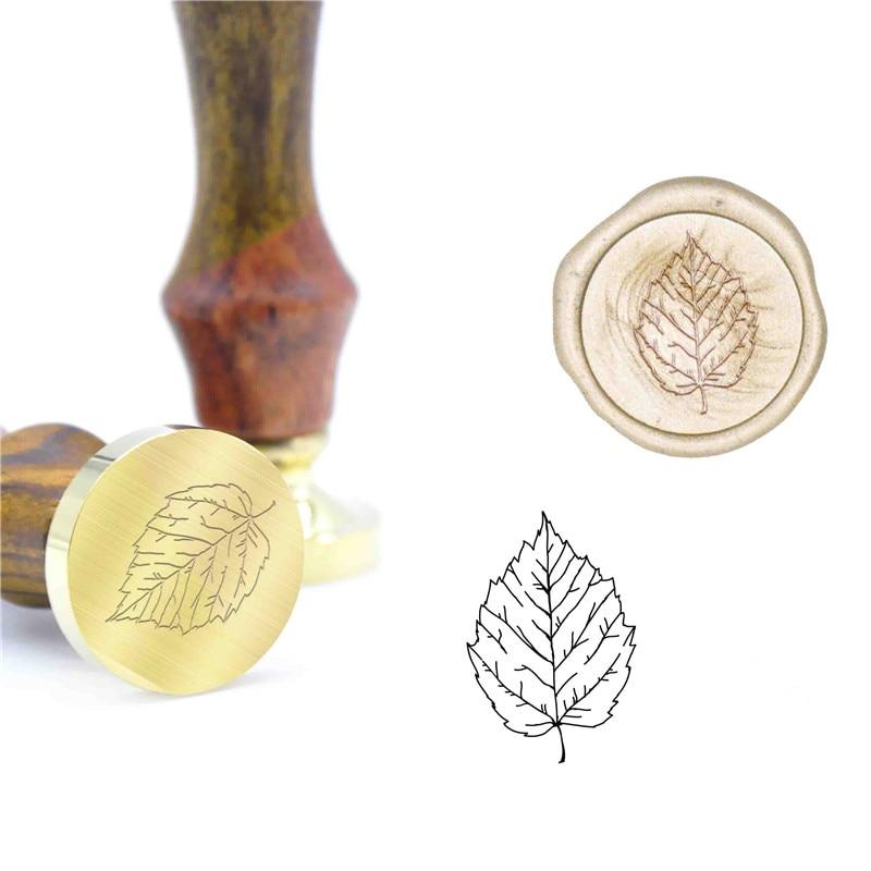 Sceau de cire à motif de feuille   Sceau de cire pour mariage, Kit de timbres-tampon dinvitation B99, timbres originaux personnalisés