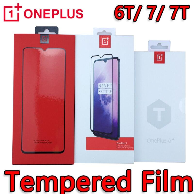 Оригинальный OnePlus 8T/6T/7/ 7T 3D закаленное стекло, Защита экрана для смартфона OP one plus 8t 7t 7 6t