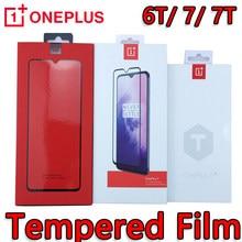 Protecteur d'écran Original en verre trempé OnePlus 8T/6T/7/ 7T 3D pour SmartPhone OP one plus 8t 7t 7 6t