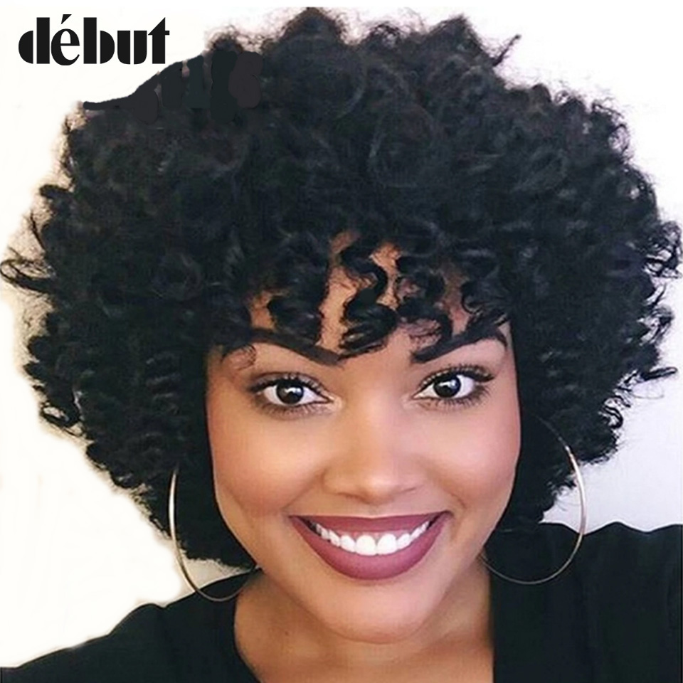 Debut Loose Curly Human Hair Wigs For Women Brazilian Remy Curly Short Hair Wigs Pixie Cut Wave Curly Wigs Free Shipping