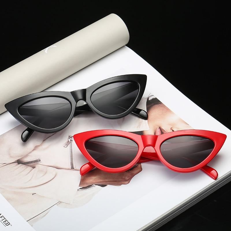 Black Red Cat Eye Shaper Sexy Casual Fashion Vintage Brand Designer Trendy Sunglasses Women Fashion Eyewear