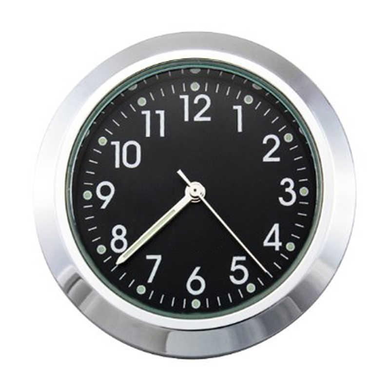 """Часы на руль мотоцикла 7/8 """"1"""", черные хромовые кварцевые часы с циферблатом, светящиеся часы для Honda, Yamaha, Suzuki, Harley, Kawasaki и т. д."""
