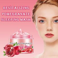 Revitalizing Pomegranate Sleeping Mask Brightening Skin Nutrition Repair Skin Sleep Mask Moisturizes And Improve Dry Skin Safe