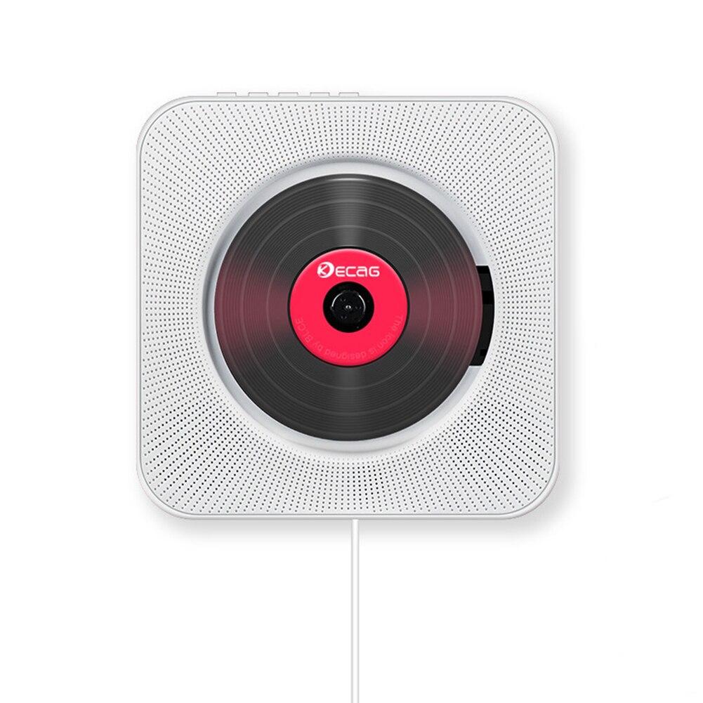 Lecteur CD Portable Bluetooth mural montable Audio maison Boombox avec télécommande Radio FM haut-parleurs HiFi intégrés USB MP3