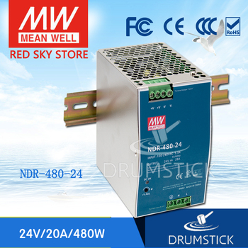 Ankang MEAN WELL NDR-480-24 24V 20A meanwell NDR-480 24V 480W Single Output Industrial DIN Rail Power Supply [powernex] mean well original hvgc 150 1400b 12 107v 1400ma meanwell hvgc 150 149 8w led driver power supply b type