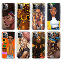 Colorful art african girl Cover Phone Case For Apple iPhone 11 Pro 6 6S 7 8 Plus 10 X XS MAX XR 5 5S SE Phone Case Cover maiyaca colorful art african girl transparent soft shell phone case for apple iphone 7 6 6s plus x xs max 5 5s se xr 8 cover