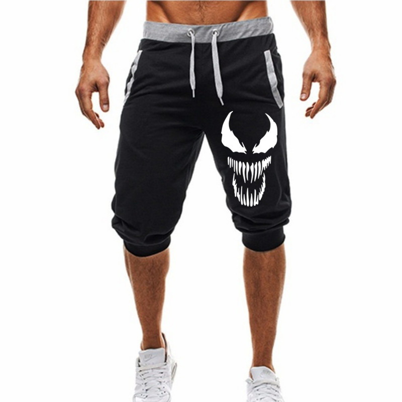 Men Hot 2019 New Hot-Selling Man's Shorts Summer Casual Fashion Shorts Venom Print Sweatpants Fitness Short Jogger M-3XL
