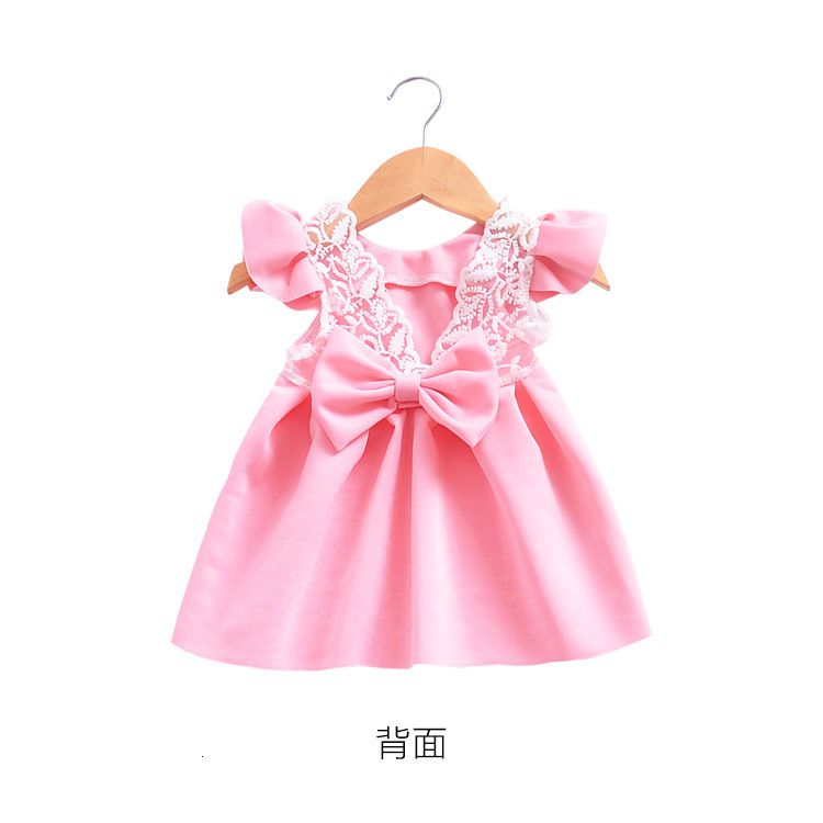 Hdae88a55fe7a484a99ae7ec407cc594b7 Girls Dress 2018 Summer Explosion Solid Color Denim Dress Cartoon Polka Dot Bow Cartoon Bunny Satchel Korean Baby Cute Dress