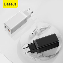 Baseus GaN Ladegerät 65W Quick Charge 4,0 PD Schnelle Ladung AFC FCP Reise Ladegerät Für Macbook Pro Für iPhone 11 X XS Huawei Mate20