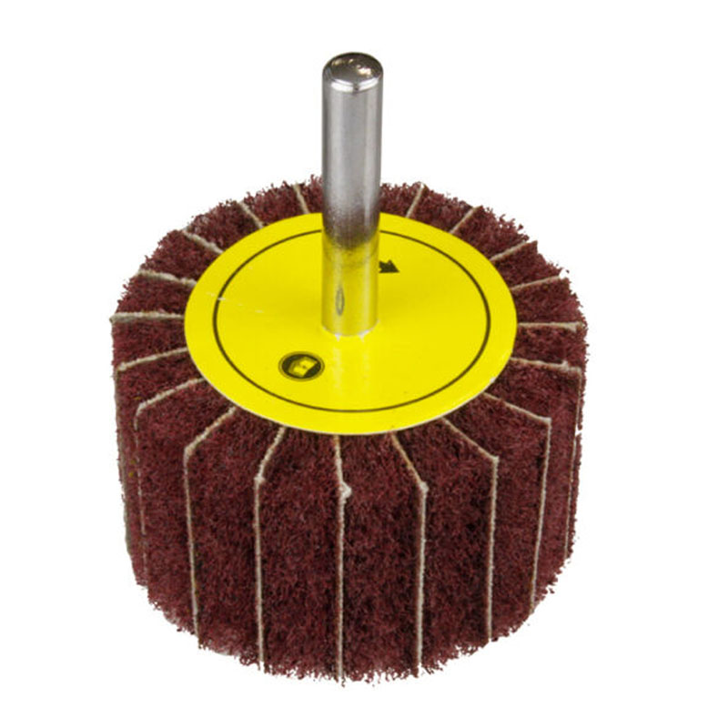 50mm Non-Woven Fleece Sanding Mop Lamellar Loop Fan Belt Grinding Abrasive Wheel
