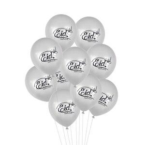 Image 5 - Ballons pour célébrer le Ramadan, en Latex, Eid MUBARAK, fournitures décoratives pour fête musulmane islamique