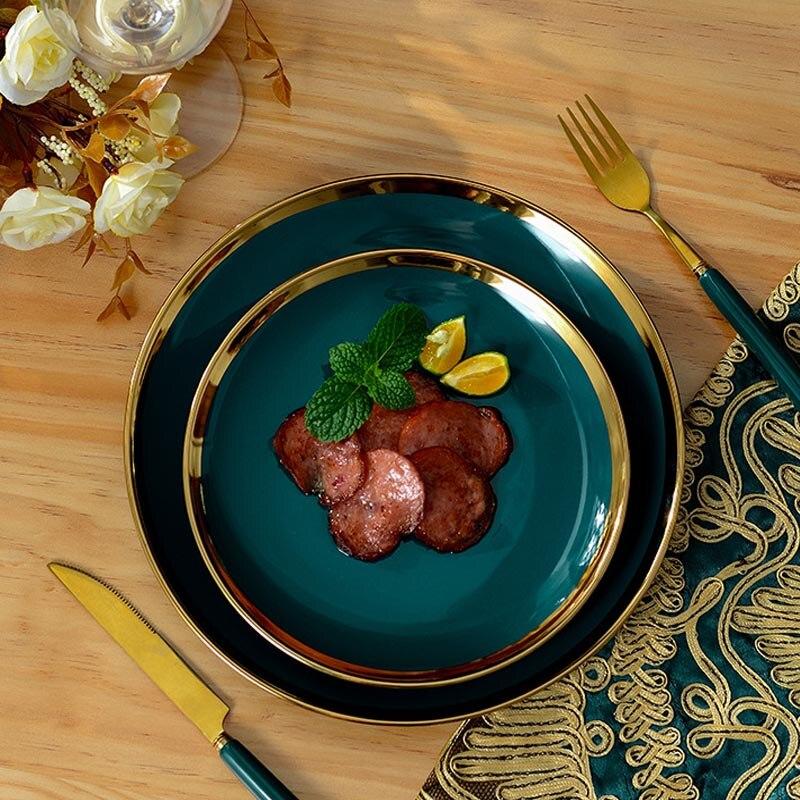 4 pièces/ensemble Jingdezhen os chine porcelaine vaisselle salle à manger en céramique vaisselle profonde soupe plats Sushi assiettes