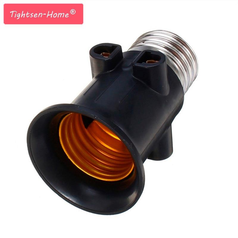 AC100-240V 4A PBT Fireproof E27 Bulb Adapter Lamp Holder Base Socket Conversion With EU Plug For Home E27 Led Bulb Lights