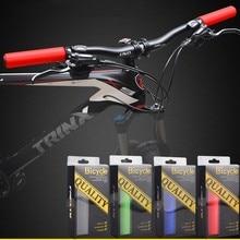 Рукоятки для руля велосипеда MTB, сверхлегкие силиконовые губки, детали для велосипеда, противоскользящая ручка, фиксатор, совместимый с диаметром 22,2 мм