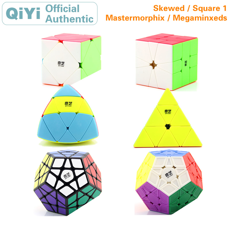 QiYi Enviesada SQ-1 3x3x3 Pyraminxeds Megaminxeds Mastermorphix Cubo Mágico Quadrado 1 Skewbes Pirâmide Velocidade puzzles cubo Fidget Brinquedos