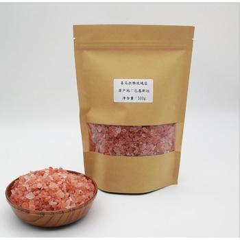 100% Natural Himalayan Salt 0.1-10mm Rose Salt Rock Salt Sea Salt Bath Salt Hot Compress Mineral Salt Red Salt Sand 500g фото