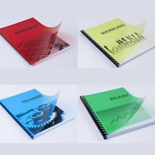 50 Sheets 0.17mm Colorful Clear Transparent Blue/Red/Yellow/Green Transparency Plastic Binding Cover Acetate Sheet