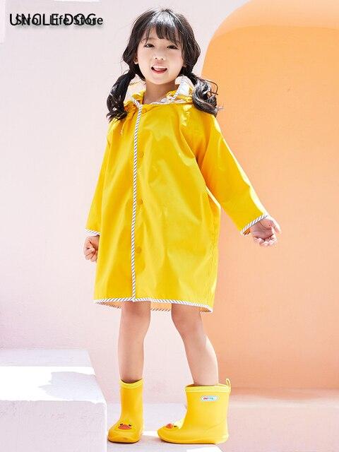 Long Rain Coat Women Boys and Girls Yellow Baby Raincoat Poncho Rain Jacket Windbreaker Waterproof Suit Impermeable Gift Ideas 1
