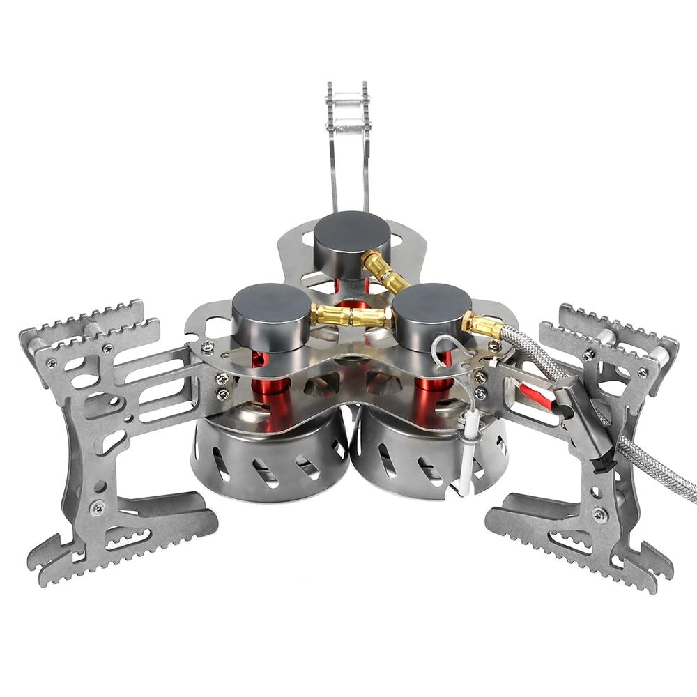 Lixada 8000 Вт портативная газовая плита наружная ветрозащитная походная горелка для кемпинга оборудование для походов путешествия - 2