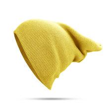 Осенне зимняя вязаная шерстяная шапка унисекс в стиле хип хоп