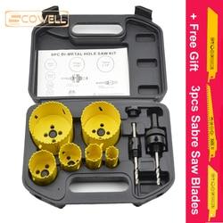 30% Off 9pcs Bi metal Holesaw Cutter Core Drill For wood metal drywall Hole Saw Circle Saw Cutter DIY Tools Kits 16mm - 73mm