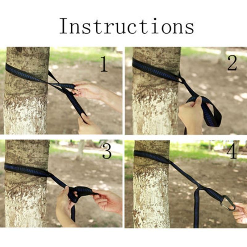 Swing Hammock Tree Hanging Kit Straps Hooks Carabiner Garden Swing Fittings