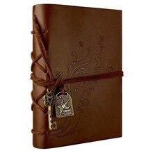 Caderno de couro, caderno clássico retrô vintage para caderno de escrita, jornal de viagem sem forro