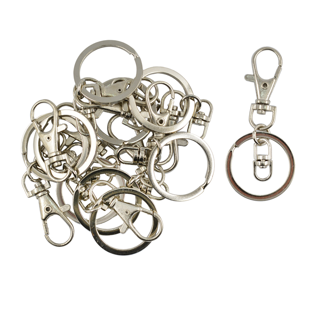 Flower Clasps Lobster Swivel Trigger Clips Snap Hooks Bag Key Rings Keychains