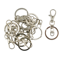 10pcs DIY Silver Lobster Clasps Swivel Trigger Clips Snap Hooks Bag Key Ring