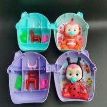 1pc/2 pces/3 pces pode brilhar chorando boneca bebê menino sprinkler boneca menina brinquedo polly bolso boneca vai chorar crianças jogar casa presentes