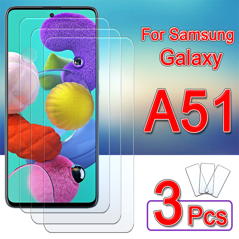 Protective Glass For Samsung A51 Screen Protector Galaxy A 51 51a Armor Tempered Glas Samsunga51 Galaxya51 Sheet Film 1 - 3 Pcs