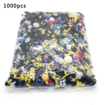 1000PCS Mixed Car Door Panel Trim Fenders Bumper Rivet Retainer Push Pin Clips Car Fender Fastener Clip image