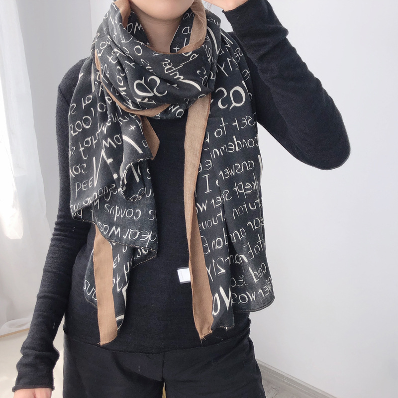 New 2019 Fashion Winter Scarf Women Cotton Warm Pashmina Foulard Lady Luxury Horse Scarves Thick Soft Bufanda Shawls Wraps