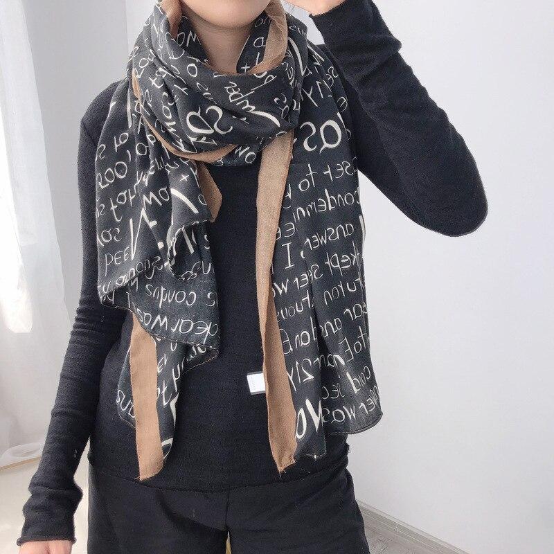 New 2019 Fashion Winter Scarf Women Cotton Warm Pashmina Foulard Lady Luxury Horse Scarves Thick Soft Bufanda Shawls Wraps