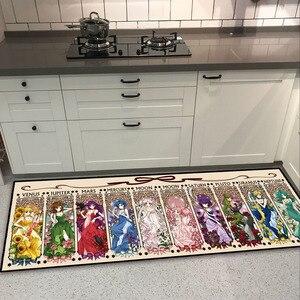 Princess Sailor Moon Luna Mars Mercury Door Mat Floor Rug Carpet Living Bed Room Kitchen Non-slip Girls Mat Pink Gifts(China)