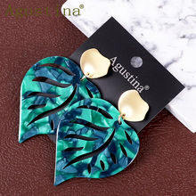 Leaf Earrings Fashion Jewelry Green Punk Colorful Women Earr