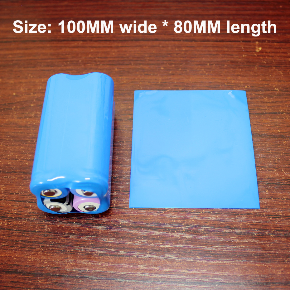 Купить с кэшбэком 500pcs/lot 26650 lithium battery packaging outer skin PVC heat shrinkable sleeve battery skin replacement shrink film
