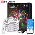 Wi-Fi Alexa светодиодный светильник Детские футболки в полоску Dreamcolor RGB IC светодиодные полосы светильник набор адресуемых для комнаты вечерние ...