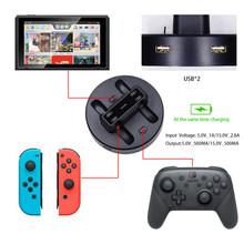 Estación de carga portátil 4 + 2 para Nintendo Switch, cargador tipo C para Switch Joy Con Nintendo, interruptor de mando de juegos